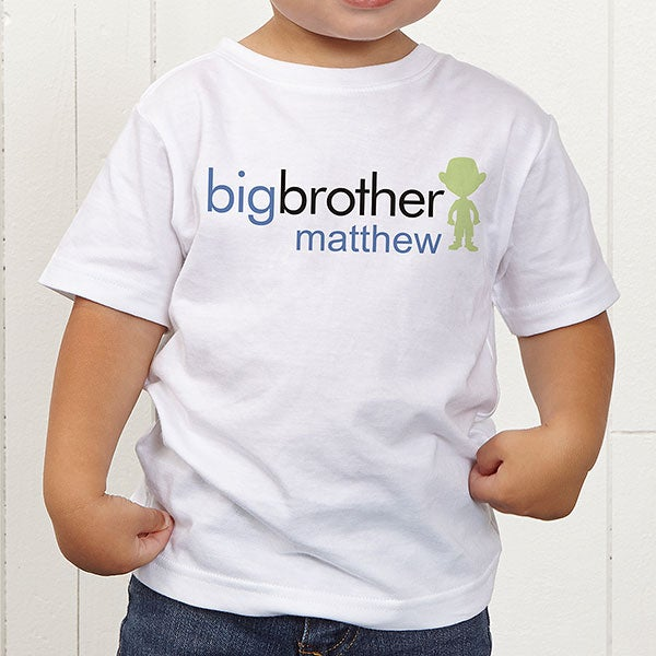 ac170321b Personalized Toddler T-Shirt - Big Brother or Sister - Kids Gifts