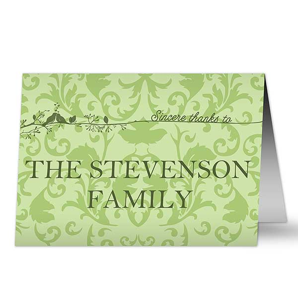 Personalized Thank You Cards - Sincere Thanks - 10552