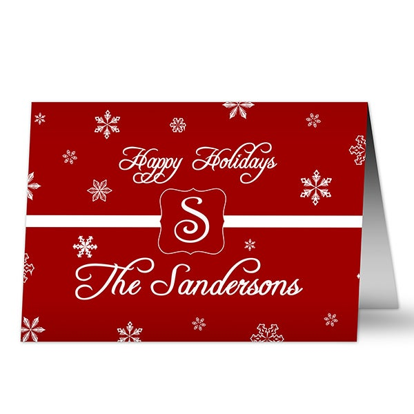 Personalized Holiday Greeting Cards - Winter Wonderland - 10559