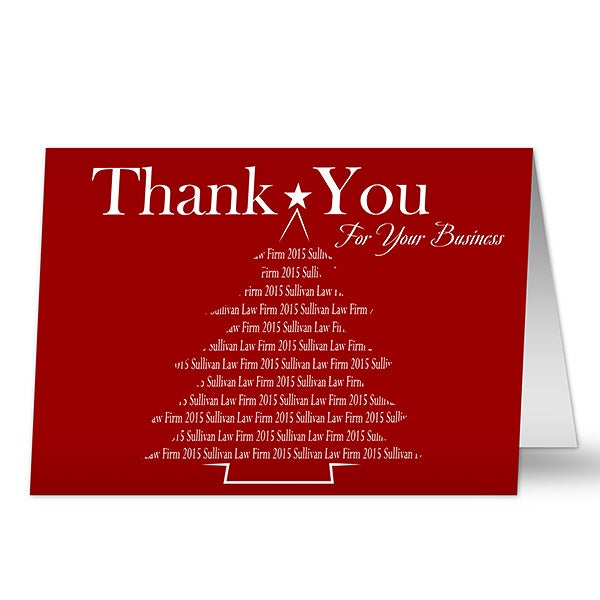 Personalized Corporate Christmas Cards Thank You For Your Business