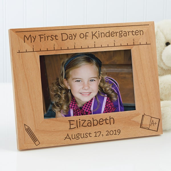 Personalized Kids Pictures Frames 1st Day Of School 4x6 Kids Gifts