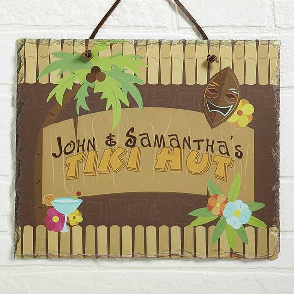 Tropical Paradise Personalized Slate Plaque - 10621