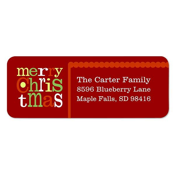 Merry Christmas Labels.Merry Christmas Return Address Labels