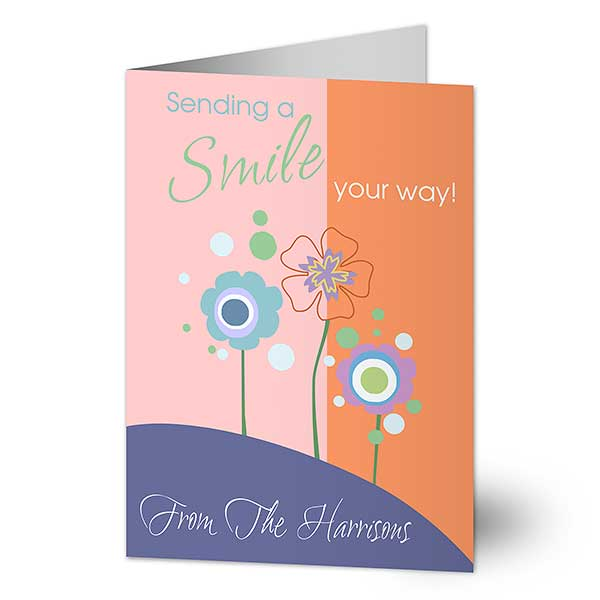 Personalized Greeting Cards - Sending A Smile Your Way - 10653