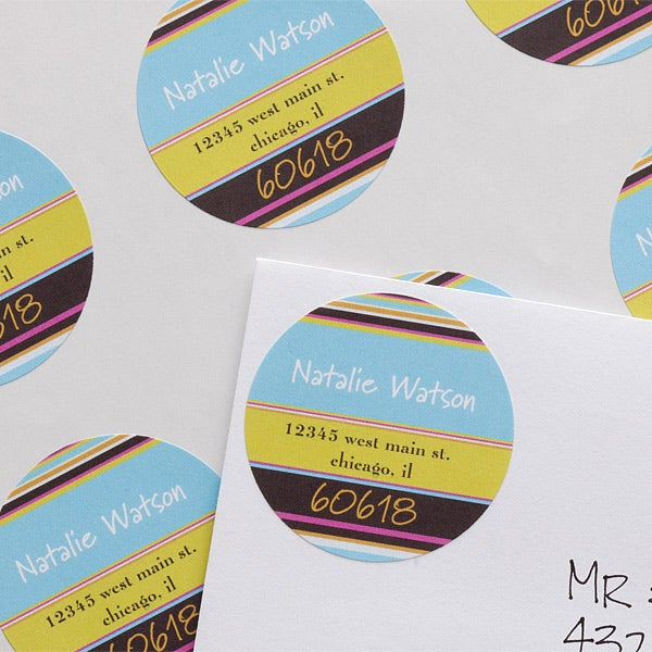 Personalized Address Labels - Stripes - 10661
