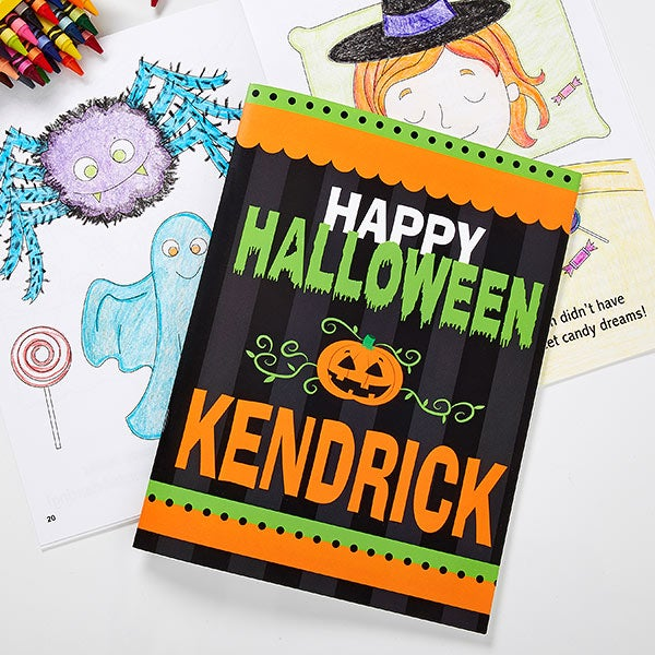 Happy Halloween Personalized Coloring Book & Crayon Set