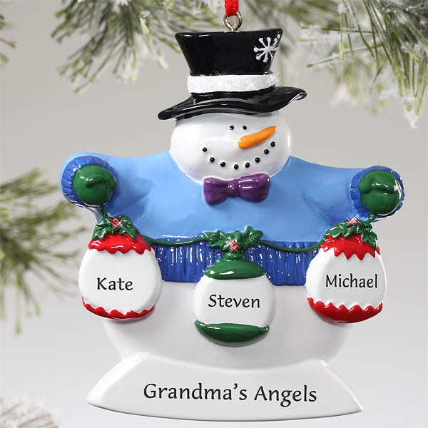 frosty snowman personalized christmas ornaments 10762