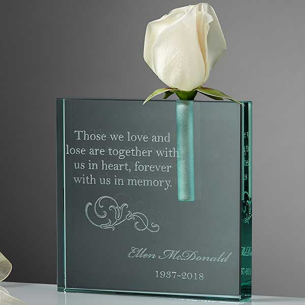 Personalized Memorial Bud Vase - Loving Memory - 10780