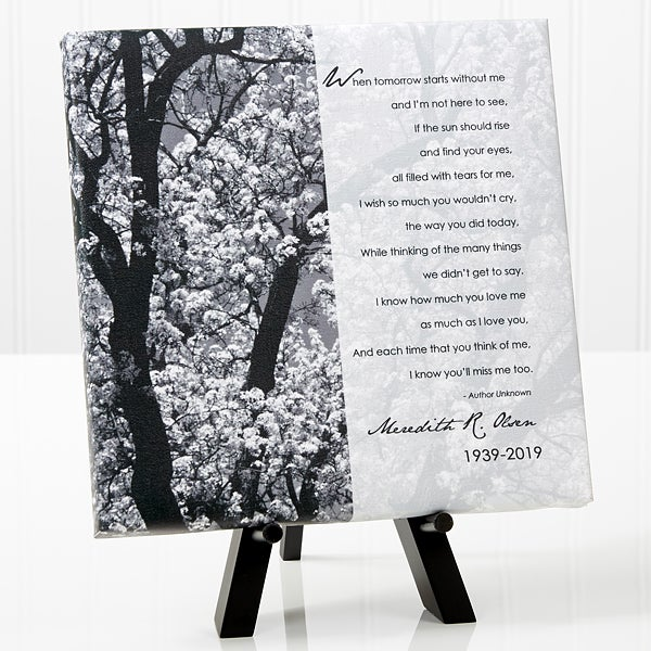 Personalized Memorial Table Canvas - In Memory - 10785