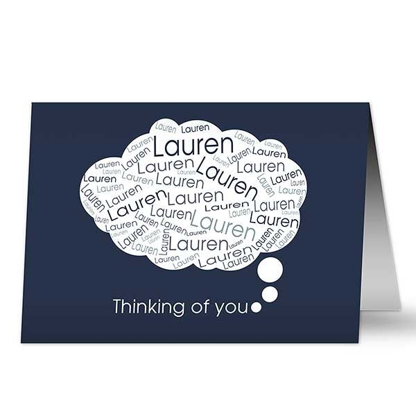Personalized Greeting Cards - You Are On My Mind - 10789