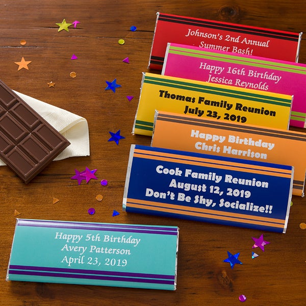 Personalized Birthday Party Favors - Candy Bar Wrappers - 10803