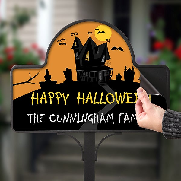Personalized Halloween Haunted House Yard Stake - 10812