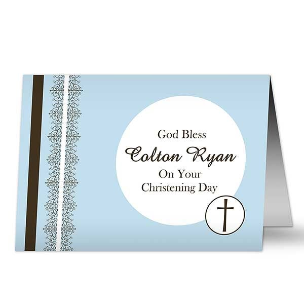 Personalized Christening Greeting Cards - Christening Day - 10823