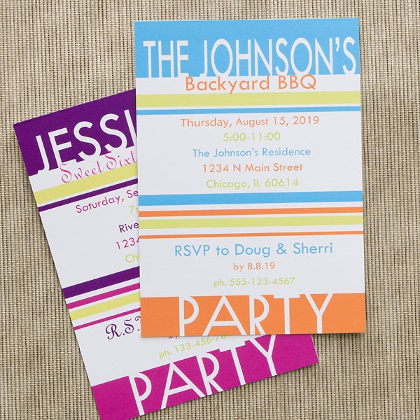 Personalized Party Invitations Time To Celebrate 10842