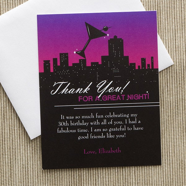 Personalized Thank You Cards - Fun In The City - 10849
