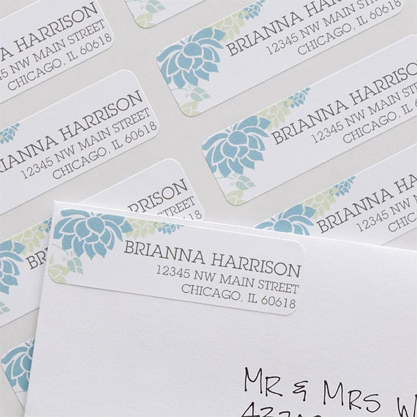 Personalized Return Address Labels - Floral - 10919