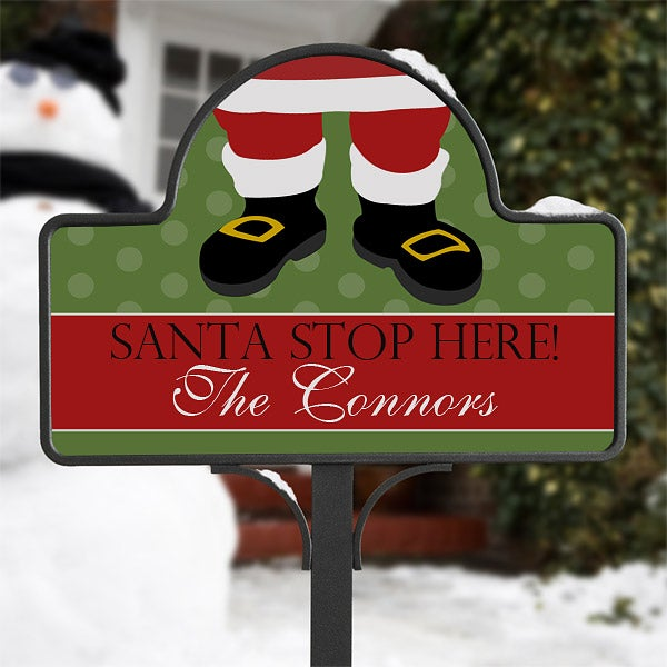 Personalized Christmas Decorations - Santa Claus Yard Stake - 10953