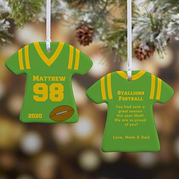 2020  Sports Jerseys Christmas Ornaments Personalized Christmas Ornaments   Sports Jersey   2 Sided