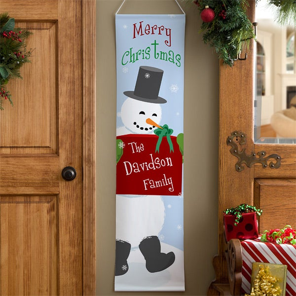 Personalized Door Banners - Christmas Snowman - 11006
