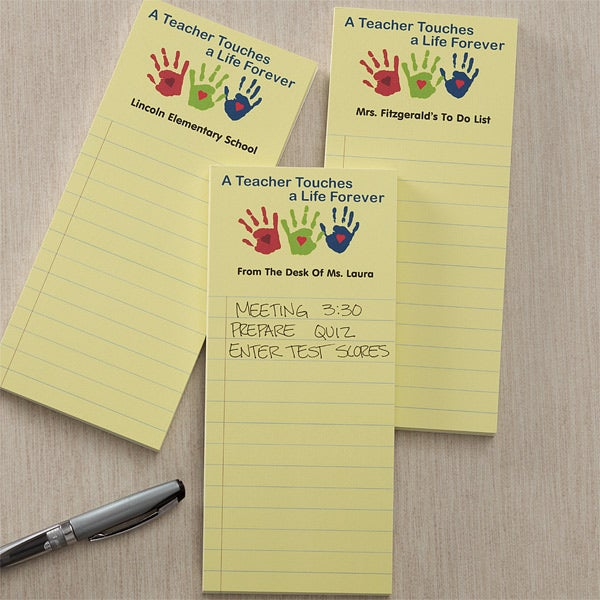 Personalized Teacher Notepads - Touches A Life - 11009