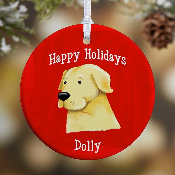 Personalized Dog Breed Christmas Ornaments - 11054 - Personalized Dog Breed Christmas Ornaments