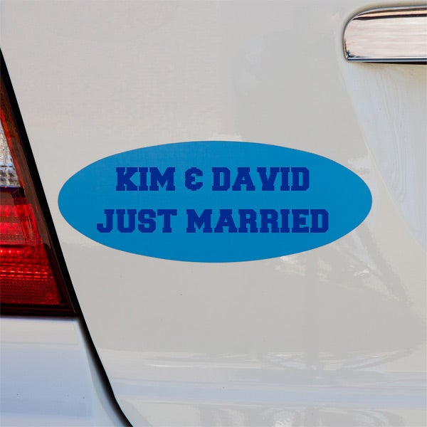 Personalized Bumper Sticker Magnets - You Name It - 11127