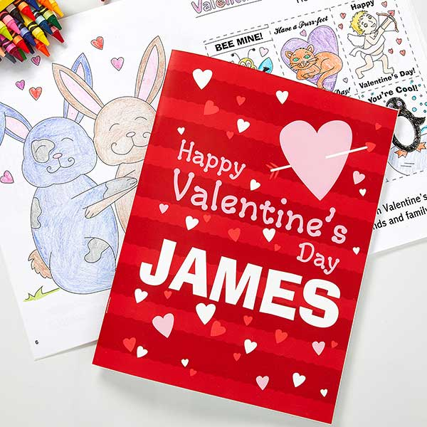 Personalized Valentine's Day Coloring Book