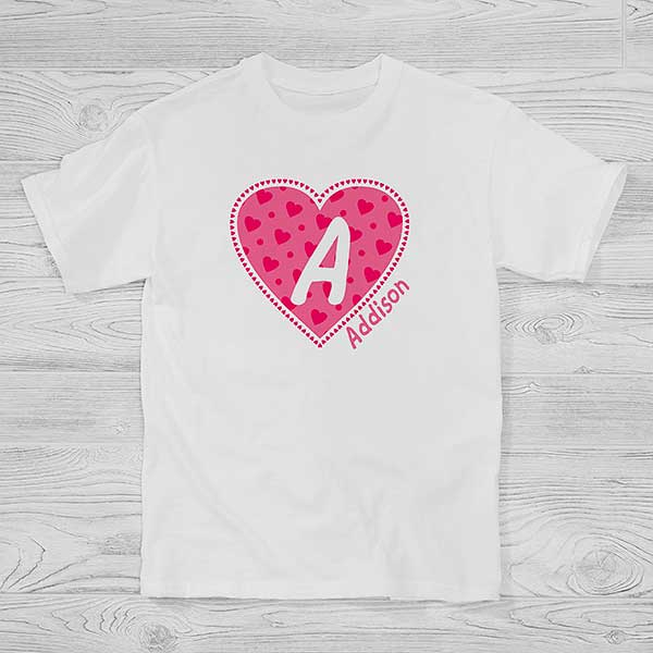 Initial Kids Shirt Monogram Kids Shirt Kids Shirt Girl  Shirt Boy Shirt -Monogram Personalized Kids Shirt Unisex Kids Shirt
