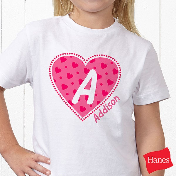 Personalized kids shirts amp clothing all my heart 11132