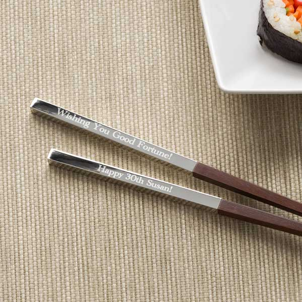 Personalized Chopstick Set - Happy Birthday - 11135