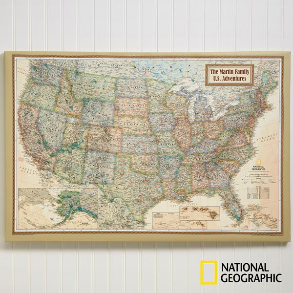 11171 National Geographic 174 Executive Personalized Canvas Map