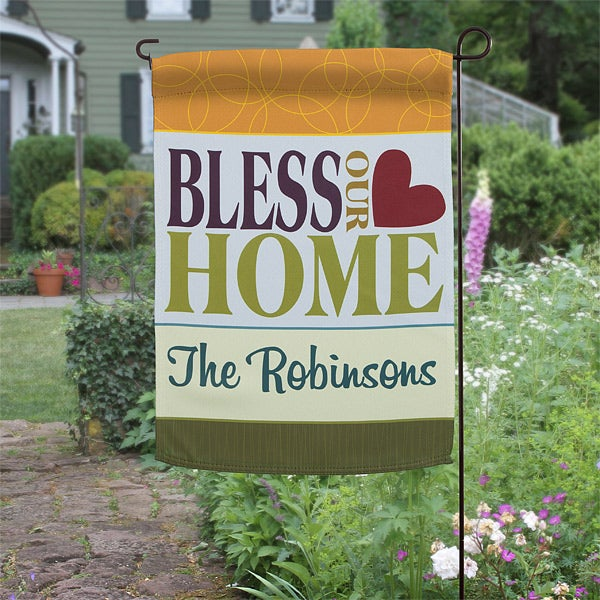 Personalized Garden Flags Bless Our Home