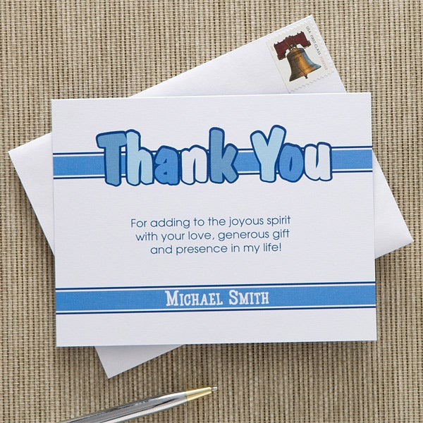 Personalized Communion Thank You Cards for Boys - 11276