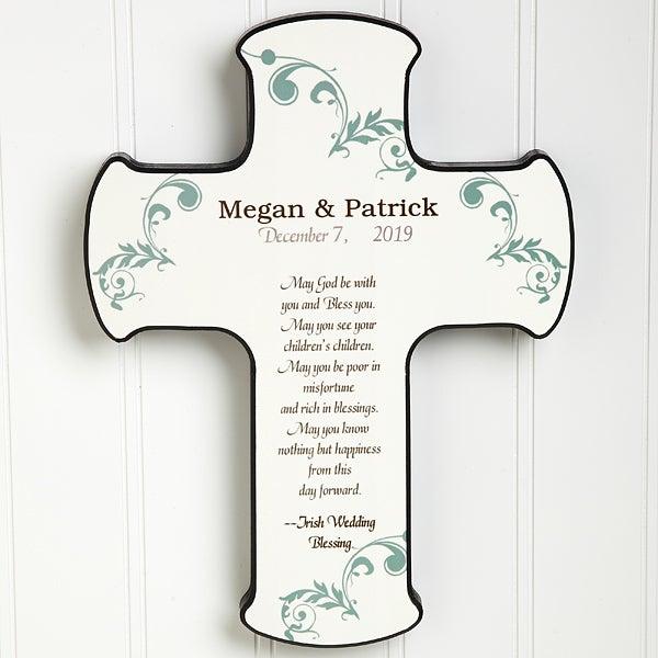 Personalized Wall Cross - Irish Wedding Blessings - 11324