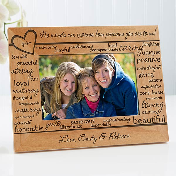 Personalized Wood Picture Frames Definition Of Mom