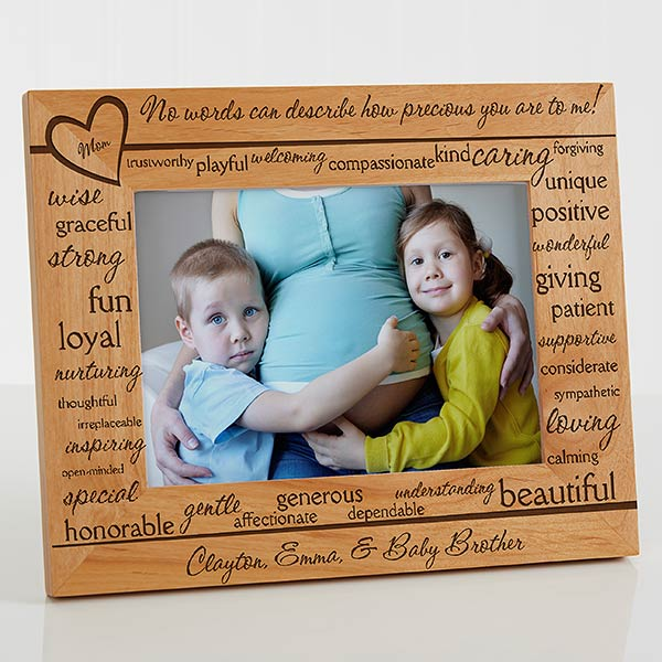 Personalized Wood Picture Frames - Definition of Mom - 11366
