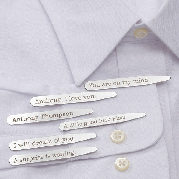Personalized Hidden Message Collar Stays - 11378