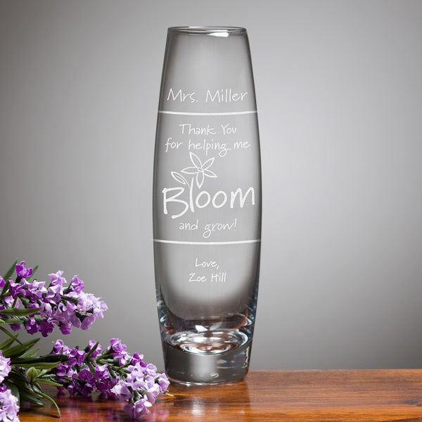 Personalized Teacher Appreciation Bud Vase - Bloom & Grow - 11463