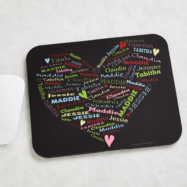 Personalized Mouse Pads - Her Heart Of Love - 11489