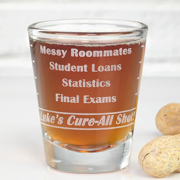 Personalized Shot Glass - College Troubles - 11512