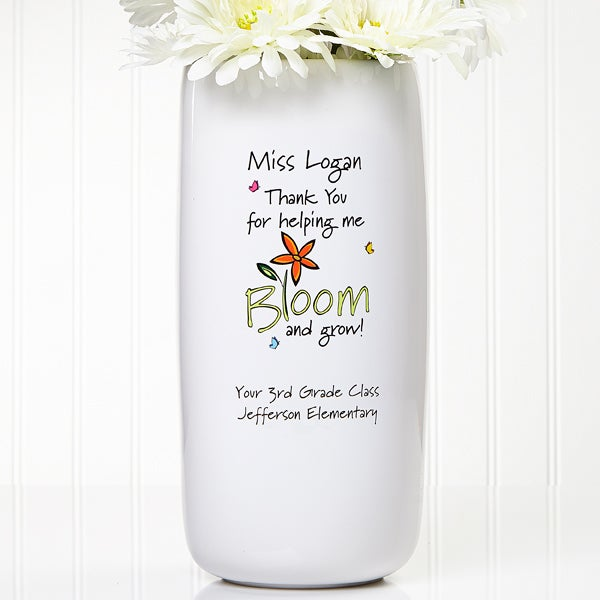 Bloom And Grow Personalized Vase