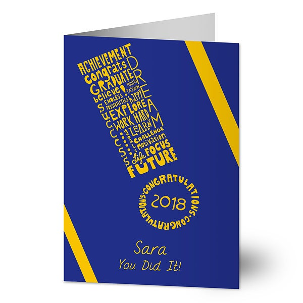 Happy Graduation Personalized Greeting Card - 11536