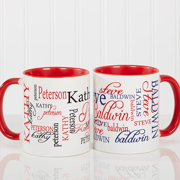 9db4dfba257 Personalized Large Coffee Mugs - My Name - Red Mug