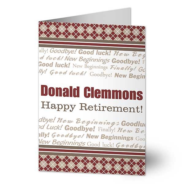 Personalized Retirement Cards - Happy Retirement - 11557