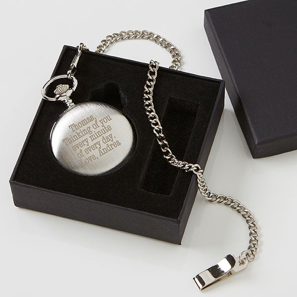 133fc3402e11e Personalized Silver Pocket Watch With Engraved Monogram