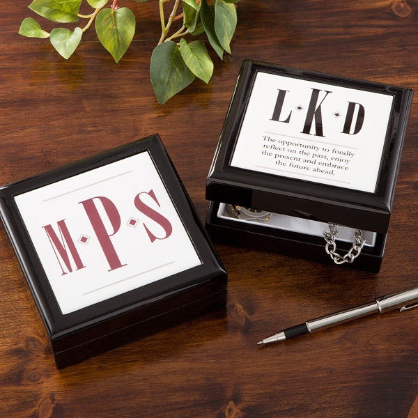 Personalized Keepsake Box for Men - Monogram - 11570