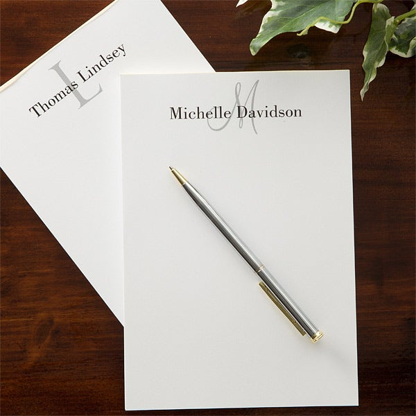 629b38d34787 Personalized Notepads - Classic Monogram - 11606