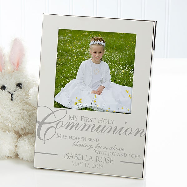 Engraved Silver Picture Frames First Holy Communion