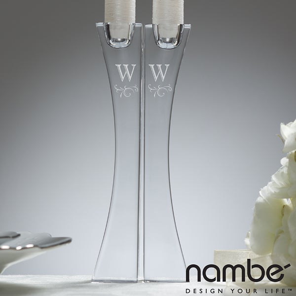 11651 - Nambé® Monogrammed Crystal Kissing Candlesticks - Full View: www.personalizationmall.com/ExtraLargeImage.aspx?productID=13811...