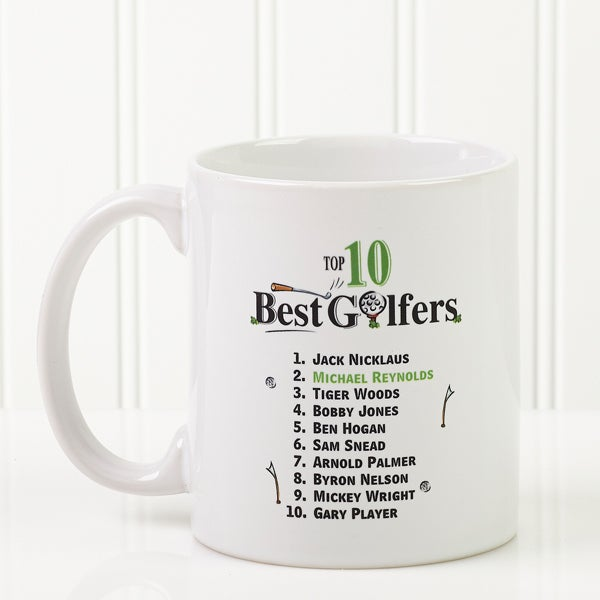 Personalized Golf Coffee Mugs - Top 10 Golfers - 11658